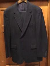 Hart Schaffner Marx Silver Trumpeter Grey Wool Pinstripe Suit  38L   38 X 34