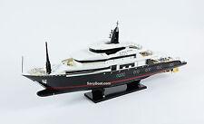 "Alfa Nero Yacht Handmade Wooden Motor Yacht Ship Model 40"""