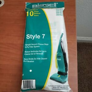 10 Bissell Upright Vacuum Cleaner Bags Style 7 BGU1451T fits 3522 3545 3550 3554