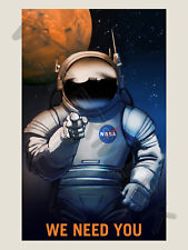 NASA POSTER SPACE EXPLORATION JOB ADVERT WE NEED YOU ART PRINT HP3823