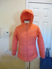 COLUMBIA Girl's XL Youth Hooded Puffer Winter Jacket Coat Peach