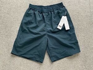 Brand New With Tags Uniqlo U Lemaire Teal Blue Nylon Relaxed Fit Shorts Small