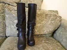 "Ladies New look ,Mid Calf boot 17"" hi,Leather ,Black, Zip,Mid Block ,UK 6/39."
