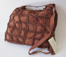 Italian RL22 ERRELLEVENTIDUE Anthropologie Brown Calf Leather Satchel Bag # 698