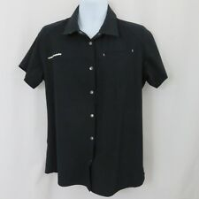 Cannondale Women's Shop Shirt Extra Large Black Bike Snap Front Collar Fitted