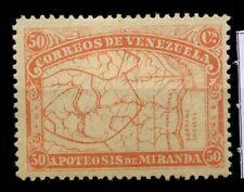 Venezuela 1896 Mi. 51 Nuovo * 100% Mappa mapa