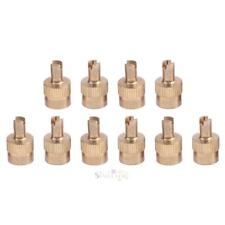 10pcs Coppe Slotted Head Valve Stem Caps for Car Motorcycle Schrader Valve S1#