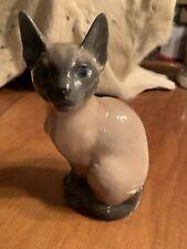 Vintage Royal Copenhagen Large Siamese Cat Sitting Figurine # 3281 Rare Signed