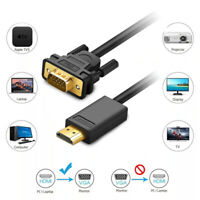 HDMI Male to VGA Male Video Adapter Cable Lead for PC TV PS4 Computer Monitor