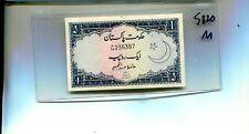 PAKISTAN 1953  RUPEE CURRENCY NOTE CU 5820M