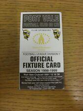 1998/1999 Port Vale: Accesorio oficial Folleto-cuatro páginas (con los resultados se indique).