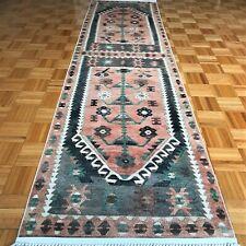 Brand New Turkish Kilim Design Runner Rug. Size 2.6' x 10.2'. Made in Turkey