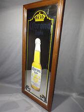 """Vintage Corona Light Beer Mirror in Wood Frame 30 x 13"""""""