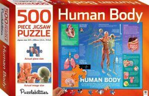 Human Body Puzzlebilities 500pce Jigsaw Puzzle Educational 625 x 496cm New