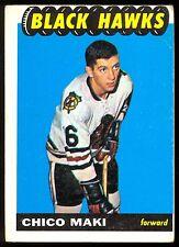 1965 66 TOPPS HOCKEY #117 CHICO MAKI RC VG-EX CHICAGO BLACK HAWKS ROOKIE CARD