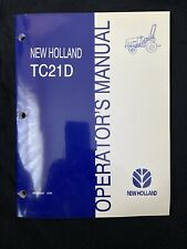 New Holland Operator's Manual TC21d Tractor *1013