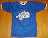 Vintage POWERED BY OLY ringer jersey Olympia Beer advertising WA can rare OLD