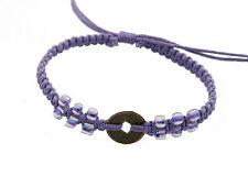 Bracelet bresilien avec sapeques bijoux ethnique piece chinoise-violet- BB553