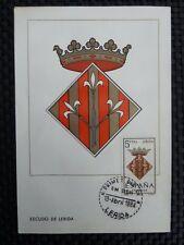 SPAIN MK 1964 ESCUDO LERIDA WAPPEN BLAZON MAXIMUMKARTE MAXIMUM CARD MC CM c8736