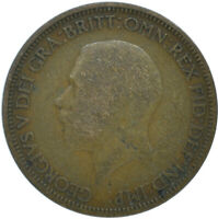 1928 HALF PENNY OF GEORGE V.     #WT15615