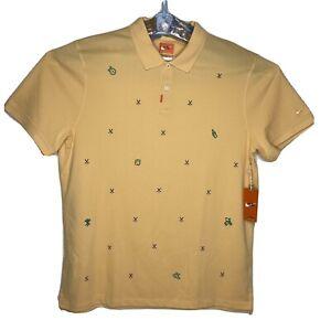 Nike Polo Shirt Dri-Fit Mens Size XL NWT Peach Orange Golf Club Logo CI9771-251
