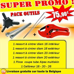 Pack outils Ressort à cintrer + Pince coupe tube multiskin / Alpex + Calibreur