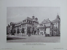 Wilhelm Kick FORTBILDUNGSSCHULE FRANKFURT - ERKER - 2 Tafeln Foto aus 1900
