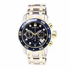 Reloj de Pulsera Invicta para Hombre Pro Diver Cronógrafo Pulsera Esfera azul y oro tono 0077