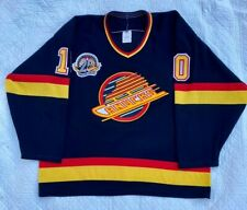 1994-95 Size Adult Large CCM Vancouver Canucks Black NHL Hockey Jersey