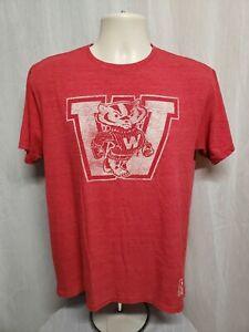 Adidas University of Wisconsin Adult Medium Red TShirt