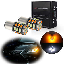 2x Switchback 1157 31-SMD LED Bulbs Turn Signal&DRL Lights For Acura Hyundai Kia