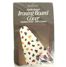 Pressing Supply Ironing Board Cover Multicolor Hearts Elastic Bound Vtg 90s