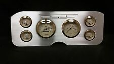 1955 1956 1957 1956 1959 GMC 6 Gauge Dash Cluster Set Billet Insert Gold