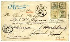 1903,Spain, 1/4,Edifil 173. First to France but redirected to Egypt and Algeria