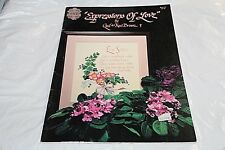 Expressions Of Love Cross Stitch Pattern Book Design Gloria Pat Wall Hanging