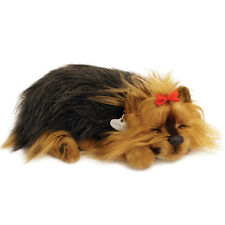 NEW Perfect Petzzz Yorkie Breathing Puppy Dog Plush Set w/Carrier, Bed, Brush