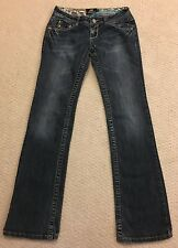 Akademiks Women's Size 26 Jeans Distressed Embroidered Pockets Stretch Bling