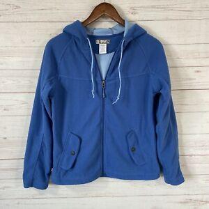 Alpine Design Front Zip Fleece Jacket Hoodie Womens Size Small Blue Pockets