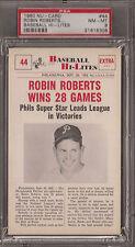 PSA 8 1960 NU-CARD BASEBALL  #44 ROBIN ROBERTS WINS 28 GAMES