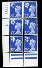 GB QE2 Machin Scotland 20½p ultramarine Waddington 1A1B no dot cylinder UMNH **