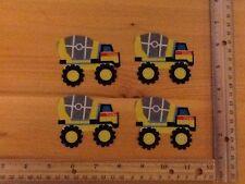 TONKA  Toy Trucks CONCRETE MIXER  fabric iron on appliqués (style#6)
