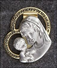 NEW PEWTER AUTO CAR VISOR CLIP MOTHER & CHILD MADONNA BEAUTIFUL BLESSING GIFT