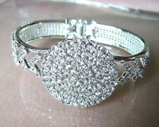 Wholesale Fashion 60Pcs Round Crystal Rhinestone Bangles Bracelets