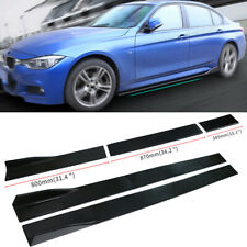 ABS 2M Universal Lower Car Side Skirts Body Kit Rocker Panel Extensions 6Pcs New