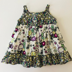 Hanna Andersson 50 Baby Girl 3-6 Months Sundress Cotton Floral