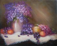 Brass Box 16x20 original oil painting Celene Farris, Maine Lilac, flower, floral