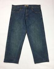 Sky jeans uomo usato W44 tg 58 gamba dritta denim blu boyfriend straight T3654