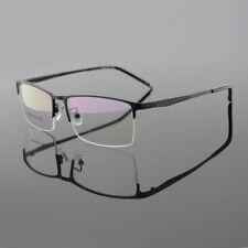 Men's Titanium Alloy Myopia Eyeglasses Frames Half Rimless Glasses Spectacles RX