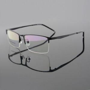 Men's Titanium Alloy Eyeglasses Frames Half Rimless Glasses Spectacles