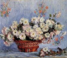 Chrysanthemums Claude Monet Floral Home Decor Art Canvas Print Floral 8x10
